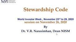 Session on Stewardship code