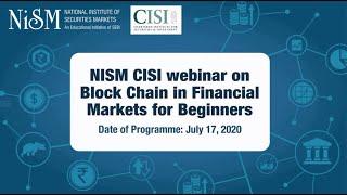 NISM CISI Webinar
