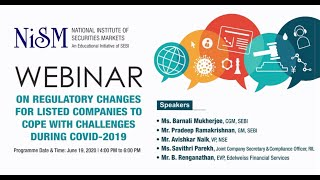 Webinar on Regulatory