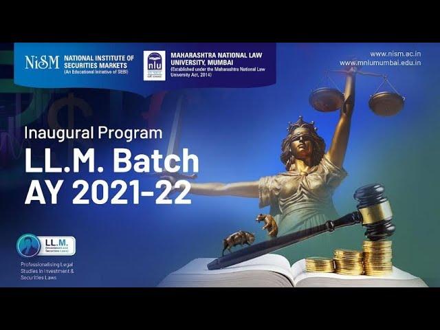 LLM Inaugural program, 2021-22